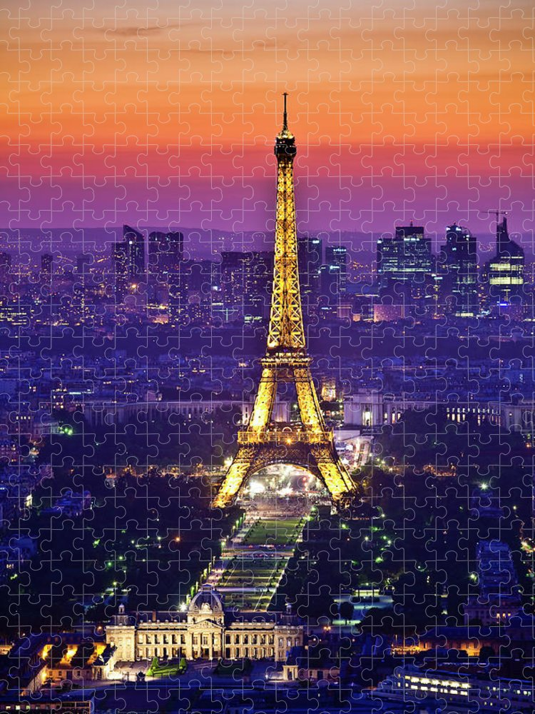Arch Puzzle featuring the photograph Eiffel Tower At Dusk by Richard I'anson