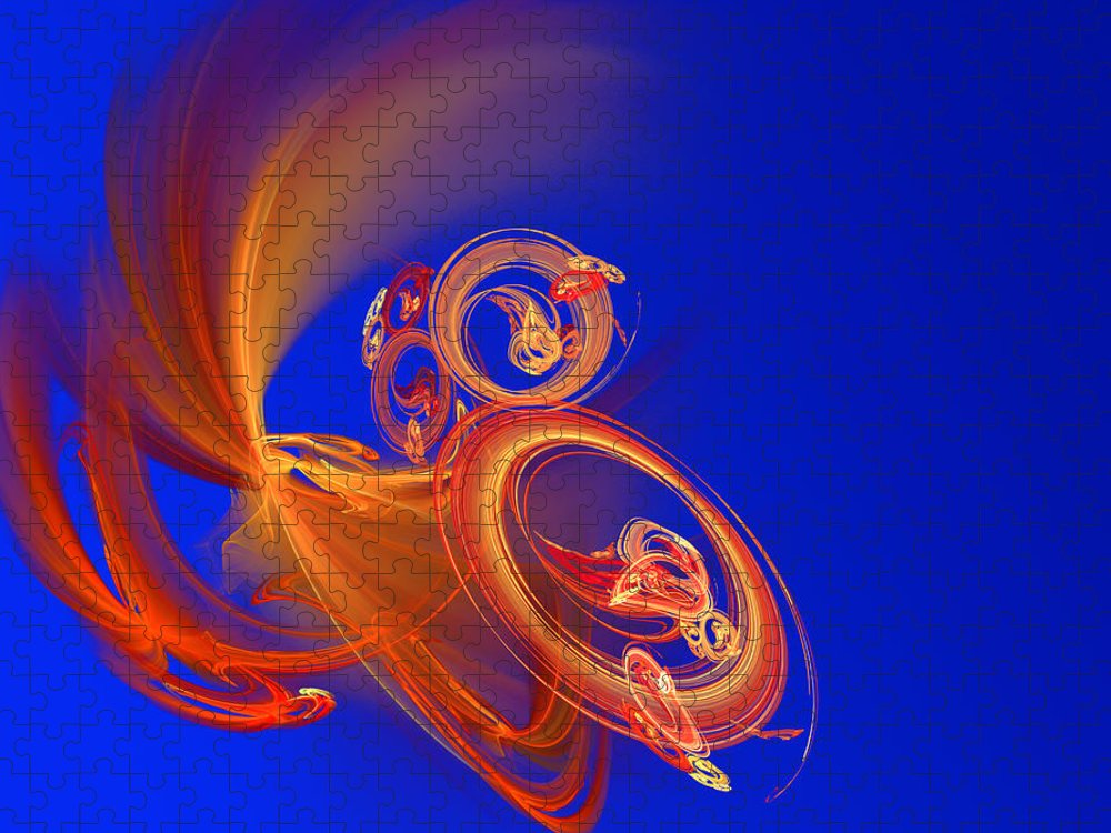 Motion Puzzle featuring the digital art Frantic by Werner Hilpert
