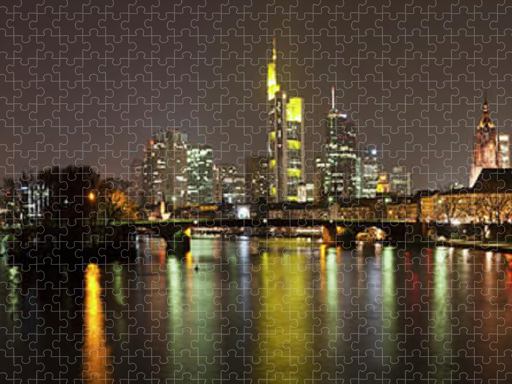 Panoramic Puzzle featuring the photograph Germany, Frankfurt, View Of City At by Westend61