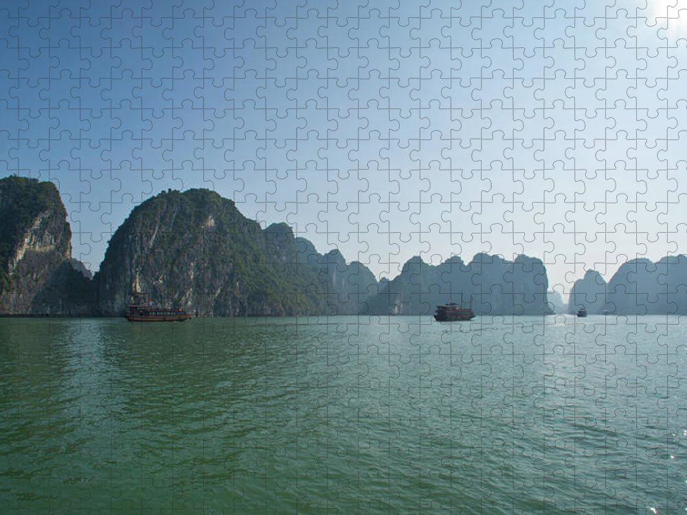 Scenics Puzzle featuring the photograph Ha Long Bay by By Thomas Gasienica