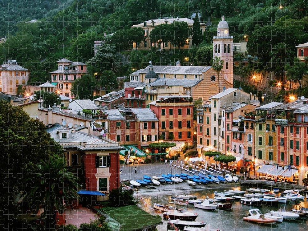 Outdoors Puzzle featuring the photograph Italy, Portofino, Liguria, Portofino by Jeremy Woodhouse