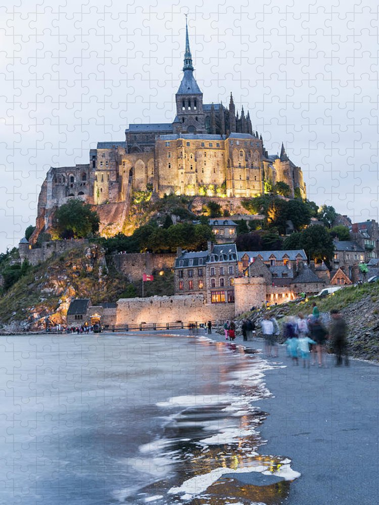 Mont Saint-michel Puzzle featuring the photograph Le Mont Saint Michel, Normandy, France by John Harper