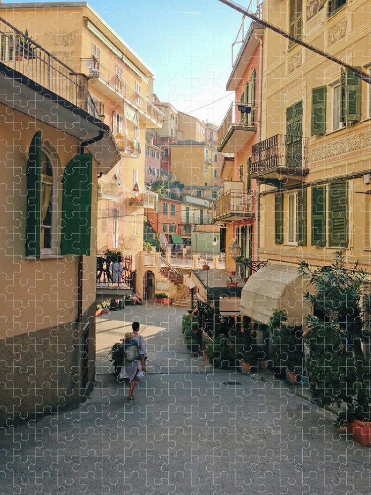 Toddler Puzzle featuring the photograph Manarola Italy by M Swiet Productions