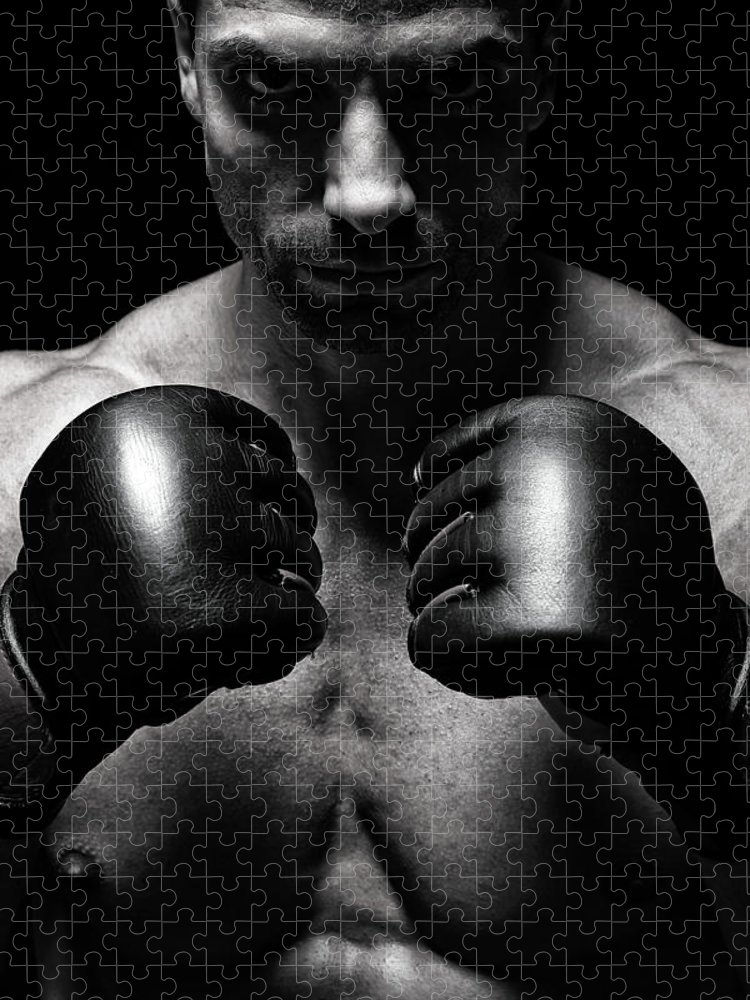 Toughness Puzzle featuring the photograph Mma Fighter by Vuk8691