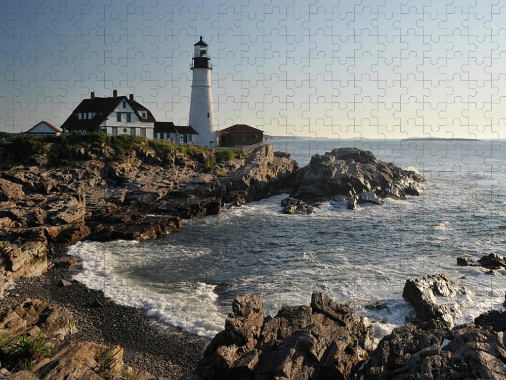 Water's Edge Puzzle featuring the photograph Portland Head Light by Aimintang
