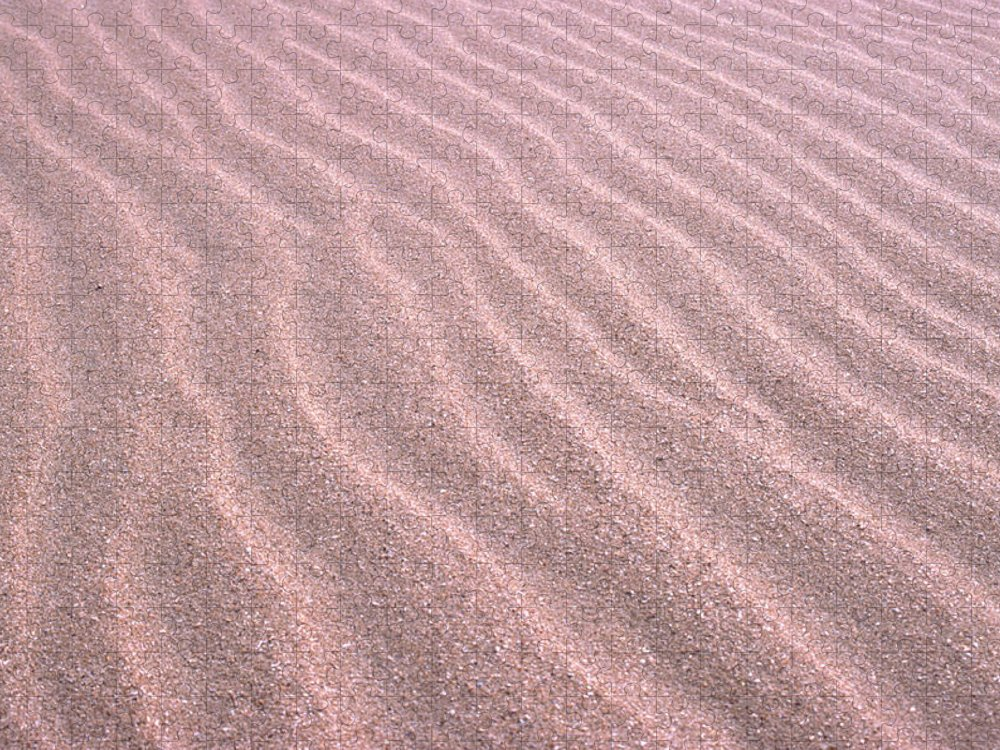 Sand Dune Puzzle featuring the photograph Sand Ripples by John Foxx