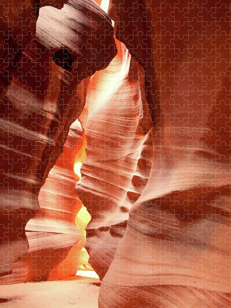 Toughness Puzzle featuring the photograph Slot Canyon by Colin Sands