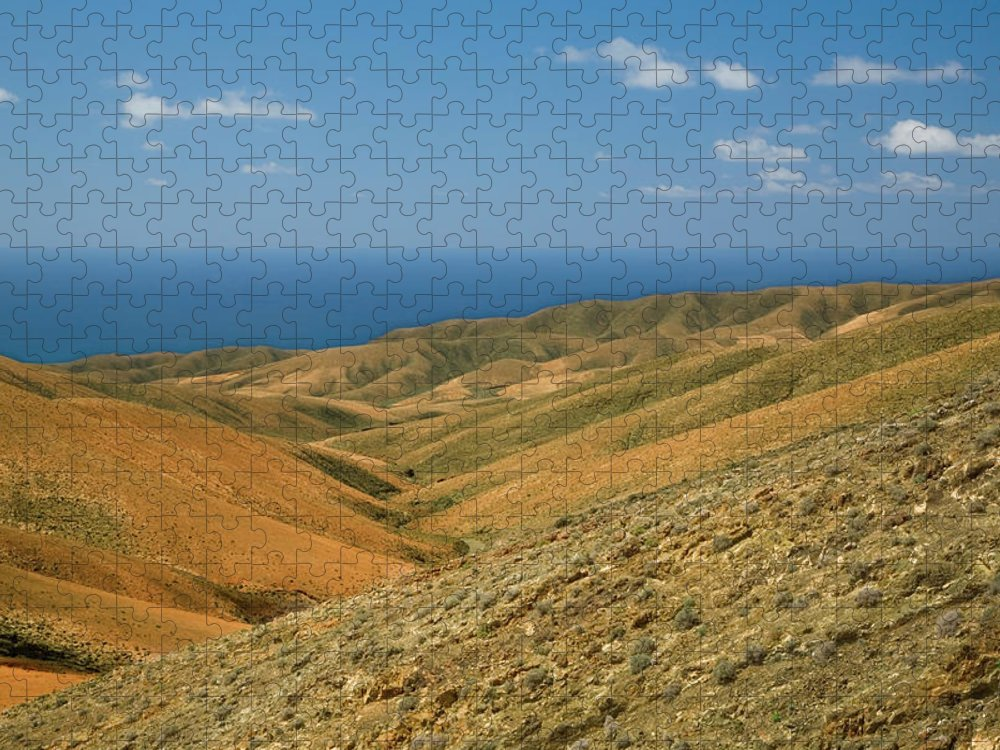 Scenics Puzzle featuring the photograph The Barren Hills Of Western by Roel Meijer