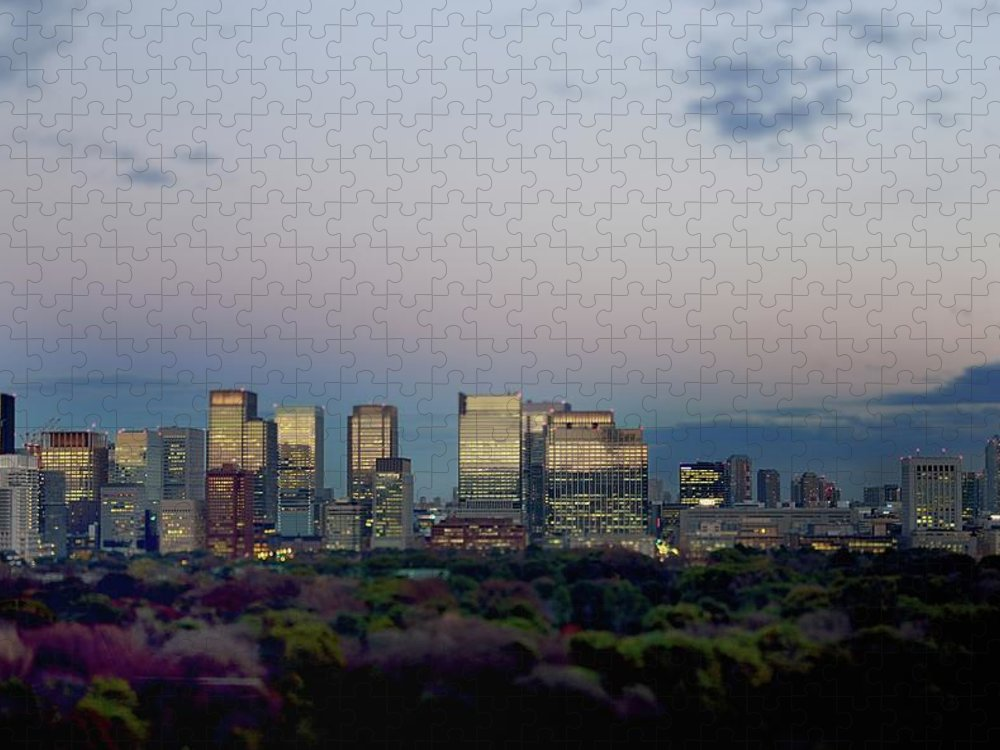 Financial District Puzzle featuring the photograph Tokyo Marunouchi by Vladimir Zakharov