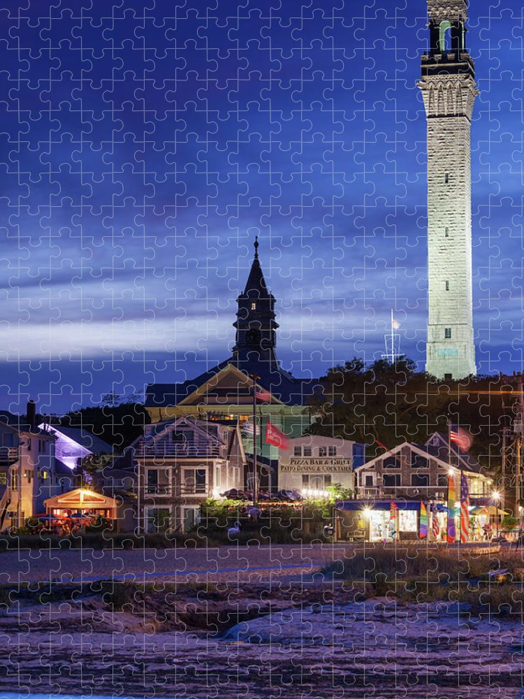 Water's Edge Puzzle featuring the photograph Usa, Massachusetts, Cape Cod by Walter Bibikow