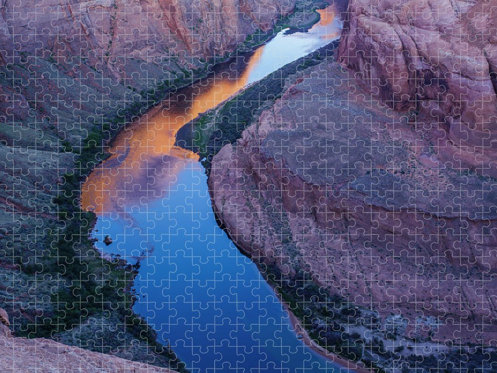 Tranquility Puzzle featuring the photograph Sand Stone Rock Formation In Sw Usa by Gavriel Jecan