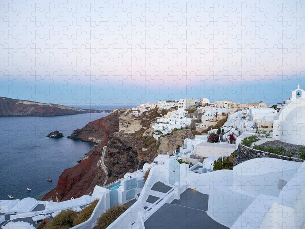 Tranquility Puzzle featuring the photograph Santorini Greece by Neil Emmerson