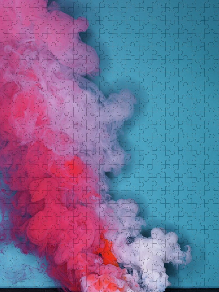 Motion Puzzle featuring the photograph Colored Smoke by Henrik Sorensen