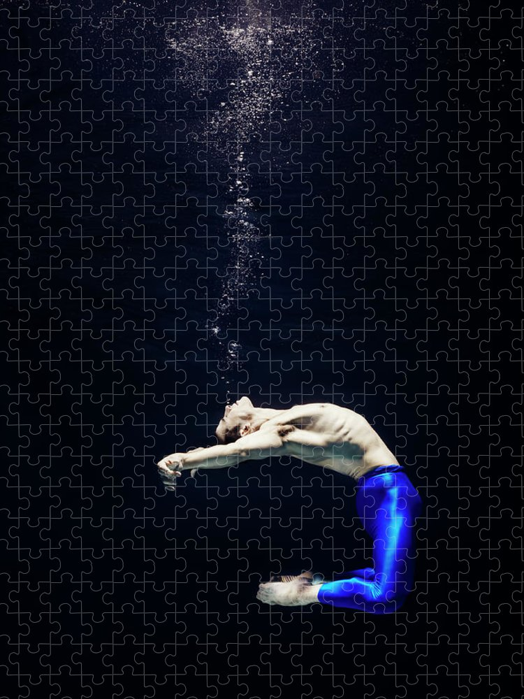 Ballet Dancer Puzzle featuring the photograph Ballet Dancer Underwater by Henrik Sorensen