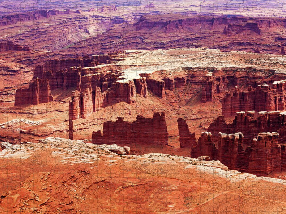 Shadow Puzzle featuring the photograph Canyonlands National Park, Colorado by Lucynakoch