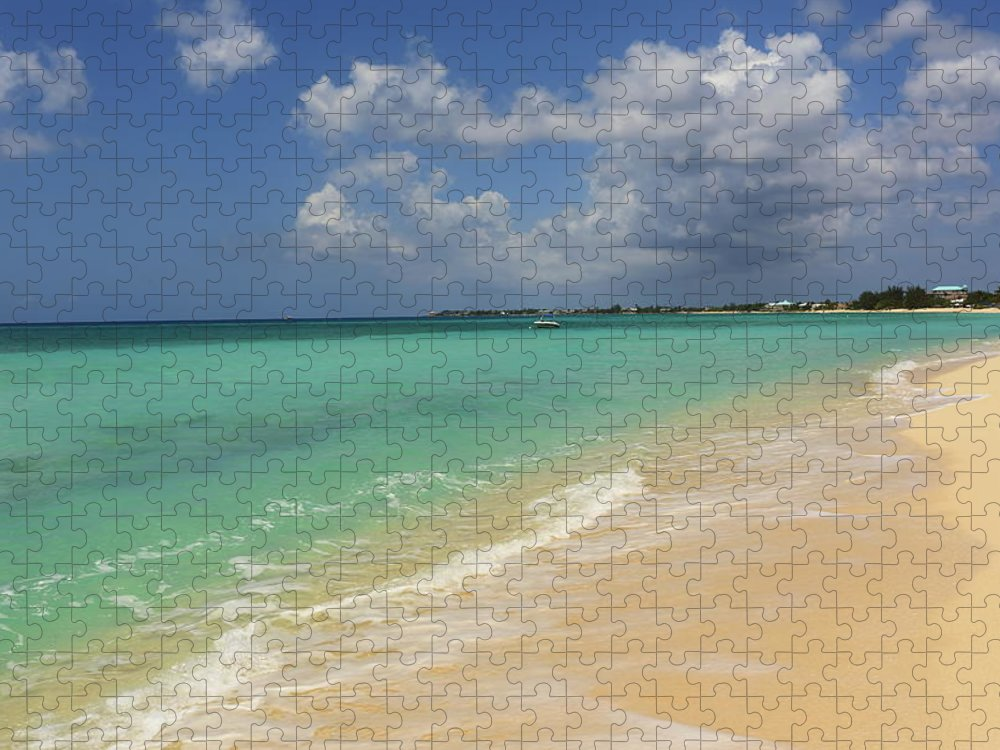 Scenics Puzzle featuring the photograph Caribbean Dream Beach by Shunyufan