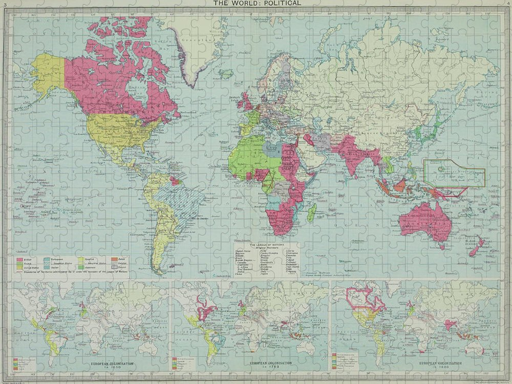 South America Puzzle featuring the photograph Map Of The World by Hemera Technologies