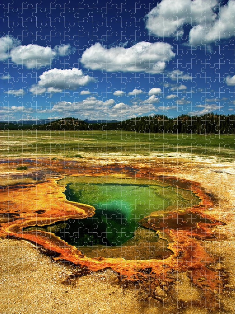 Morning Glory Pool Puzzle featuring the photograph Yellowstone Thermal Pool by Bill Wight Ca