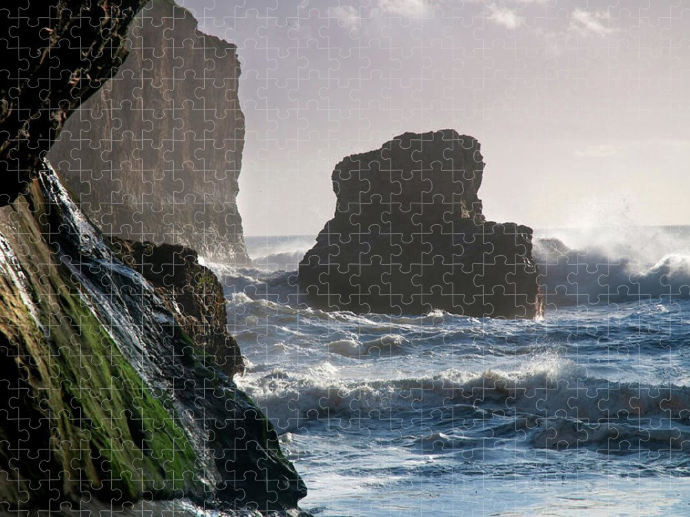 Scenics Puzzle featuring the photograph Rustic Davenport Coast by Mitch Diamond
