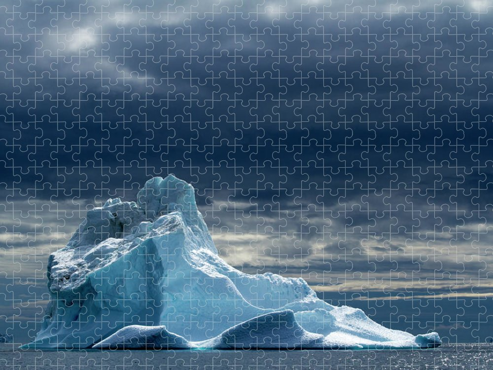 Tranquility Puzzle featuring the photograph Icebergs, Disko Bay, Greenland by Paul Souders