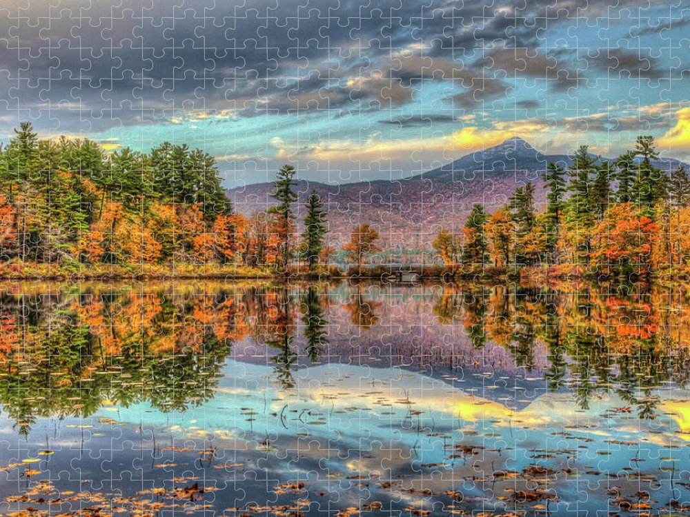 Scenics Puzzle featuring the photograph A Mountain And Its Lake by Joe Martin A New Hampshire Portrait Photographer