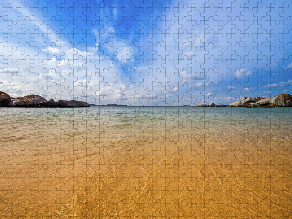 Tranquility Puzzle featuring the photograph A View Of The Caribbean Sea From The by Lotus Carroll