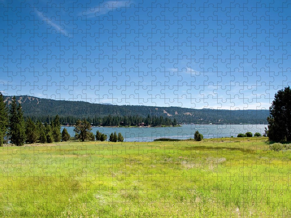 Scenics Puzzle featuring the photograph Alpine Mountian Lake And Meadow by Alynst
