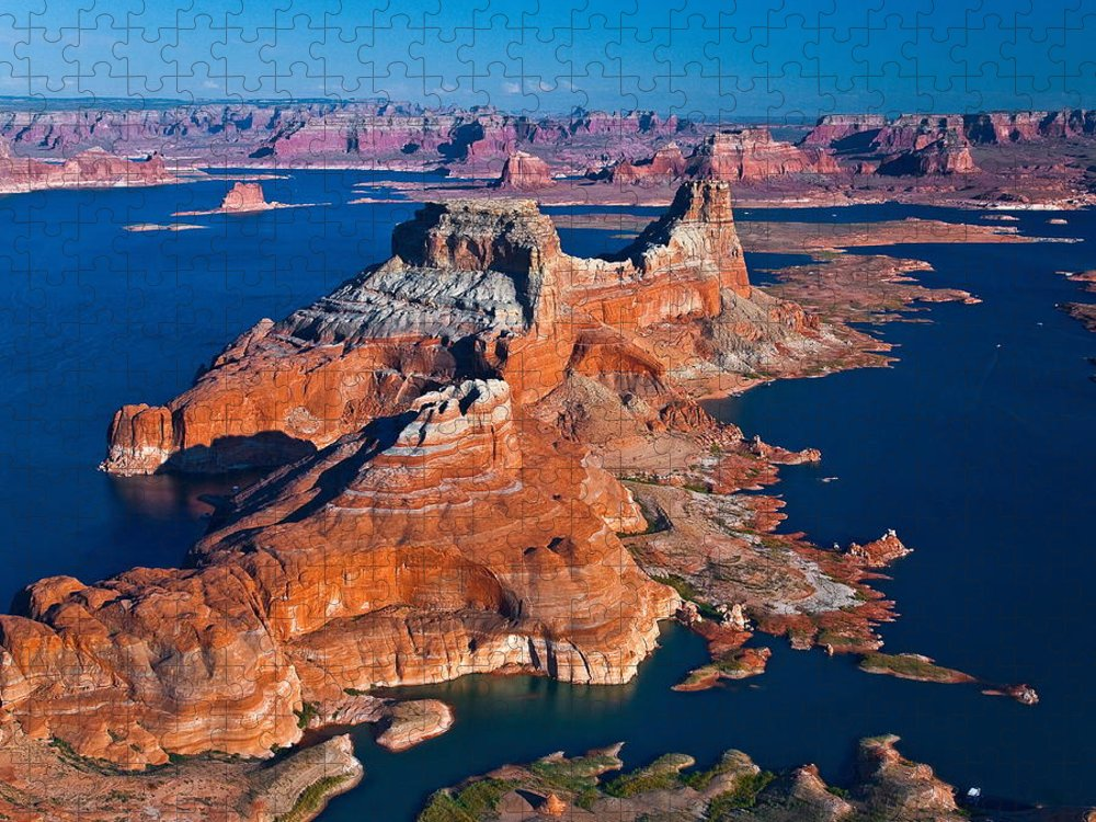Tranquility Puzzle featuring the photograph Alstrom Point, Lake Powell by Gleb Tarro