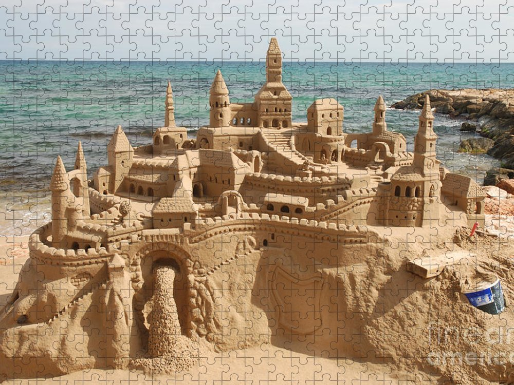 Magic Puzzle featuring the photograph Amazing Sandcastle On A Mediterranean by Philip Lange
