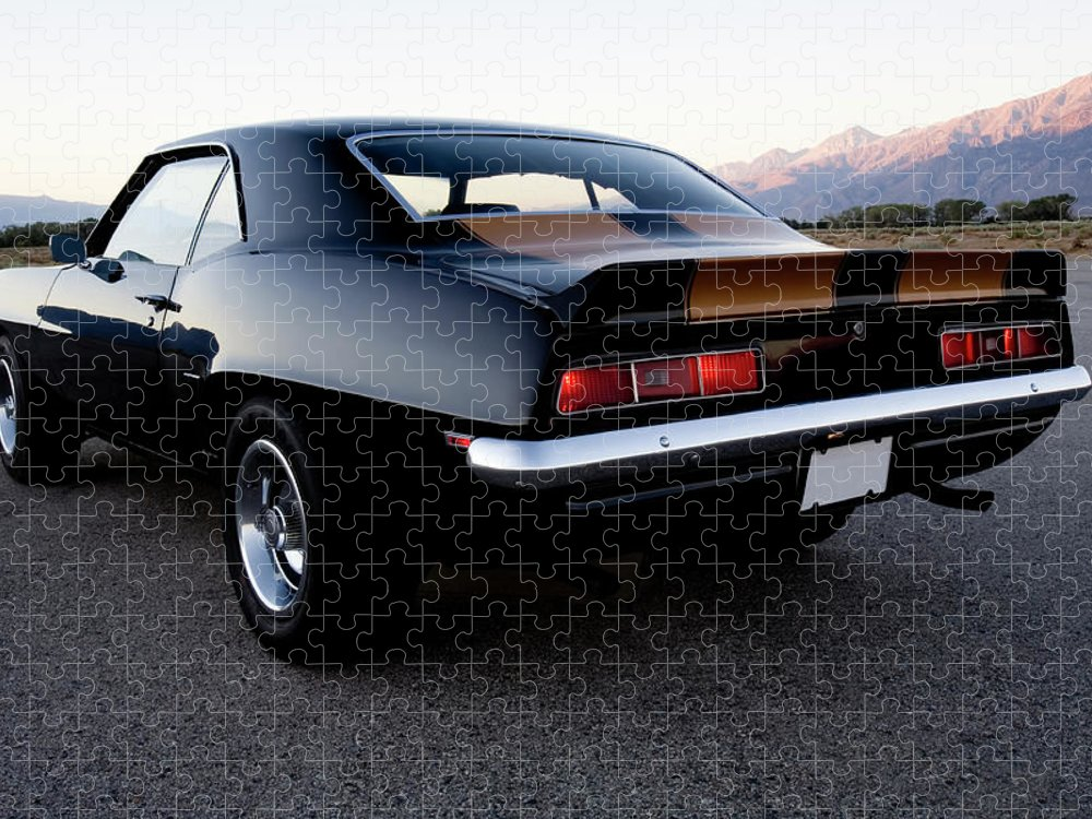 Drag Racing Puzzle featuring the photograph American Muscle Car by Sierrarat
