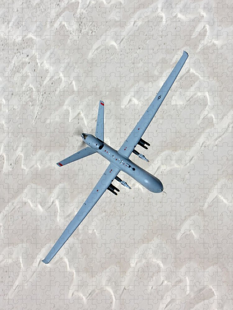 Aerodynamic Puzzle featuring the photograph An Mq-9 Reaper Flies A Training Mission by High-g Productions/stocktrek Images