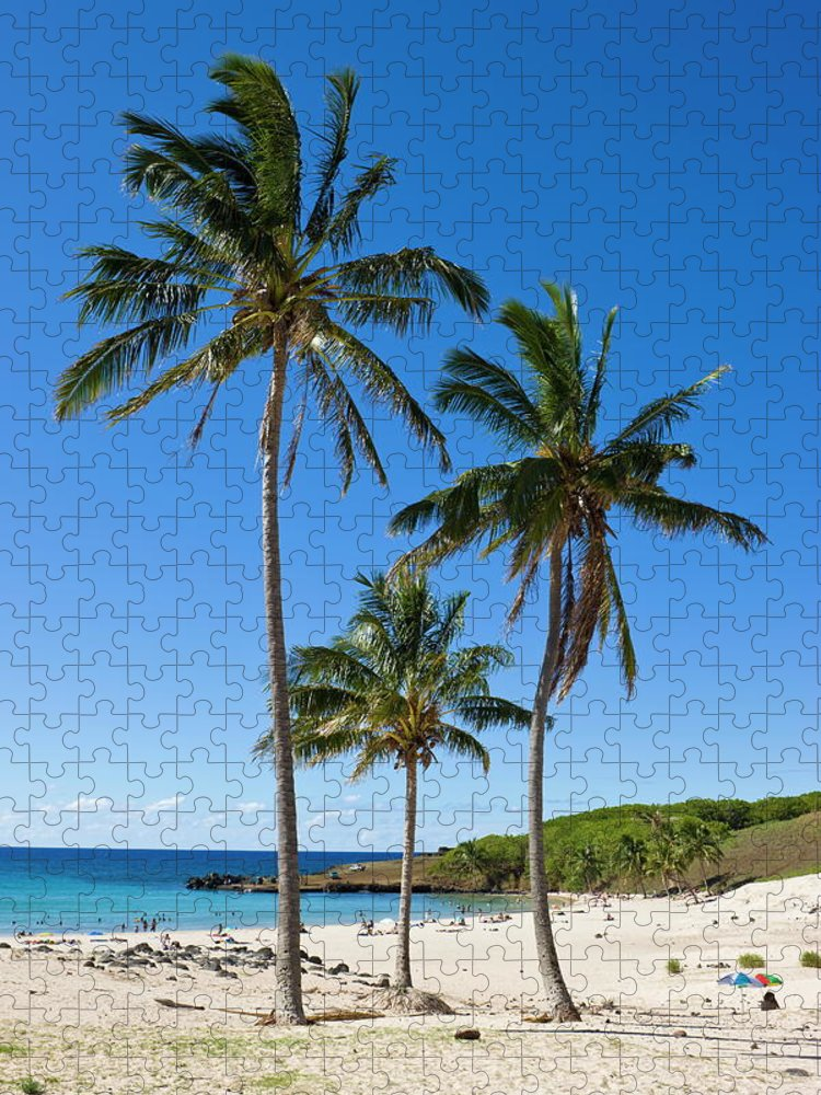 Scenics Puzzle featuring the photograph Anakena Beach, The Islands White Sand by Gavin Hellier / Robertharding