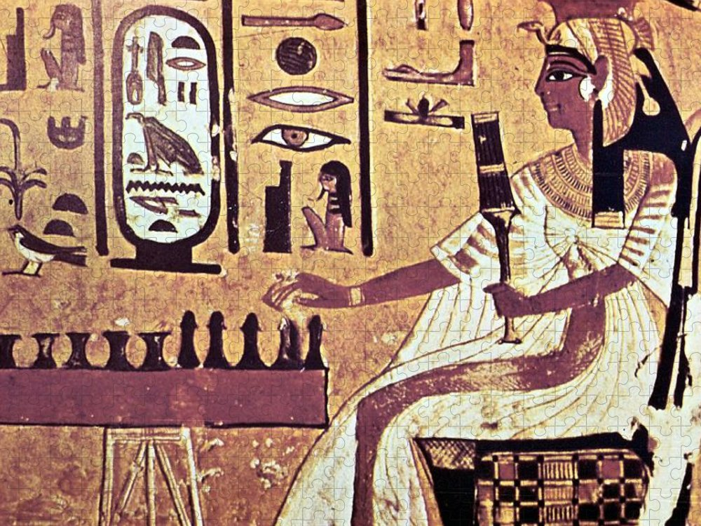 Human Representation Puzzle featuring the photograph Ancient Egyptian Queen Nefetari Playing by Photos.com