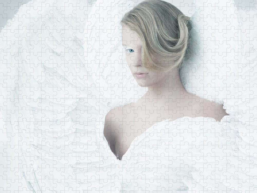 People Puzzle featuring the photograph Angel by Colin Anderson