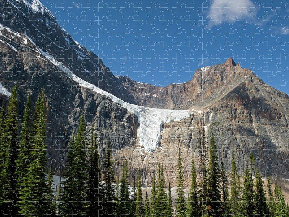Scenics Puzzle featuring the photograph Angel Glacier by Jim Julien / Design Pics