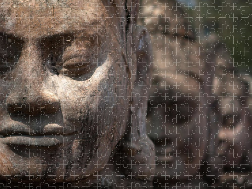 Art Puzzle featuring the photograph Angkor Warriors by Romulo Rejon