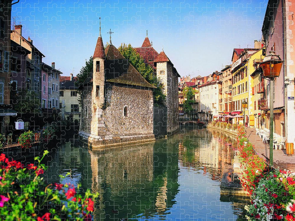 Town Puzzle featuring the photograph Annecy, Savoie, France by Robertharding