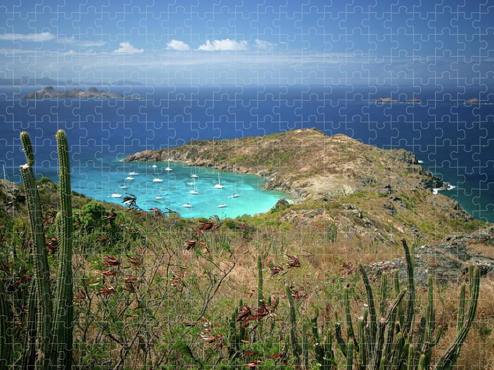 Tranquility Puzzle featuring the photograph Anse De Colombier, St. Barth by Photo ©tan Yilmaz