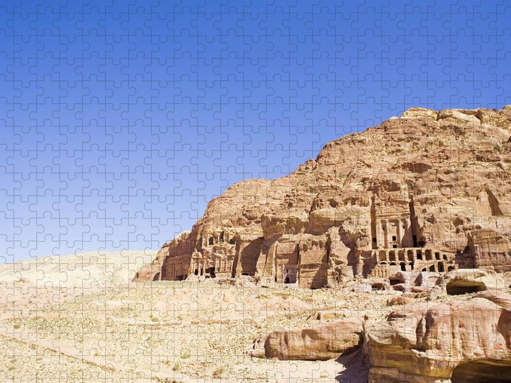 Scenics Puzzle featuring the photograph Archaeological Remains Of Petra by Gallo Images