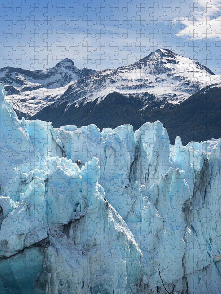 Scenics Puzzle featuring the photograph Argentina Patagonia Glacier Perito by Grafissimo