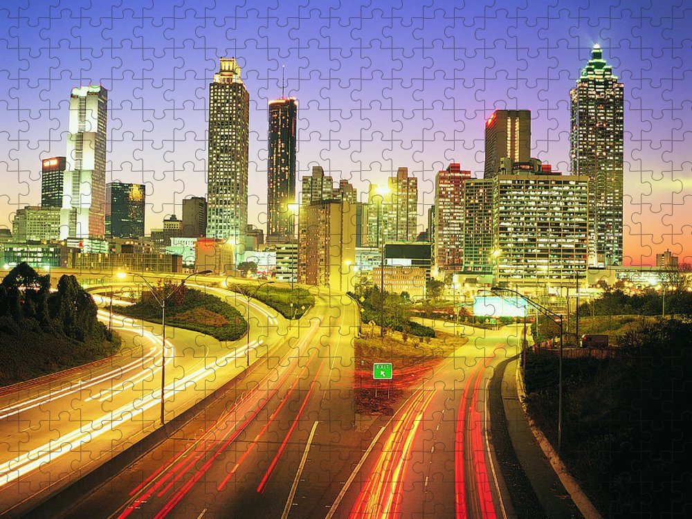 Atlanta Puzzle featuring the photograph Atlanta Skyline, Georgia, Usa by Travel Ink