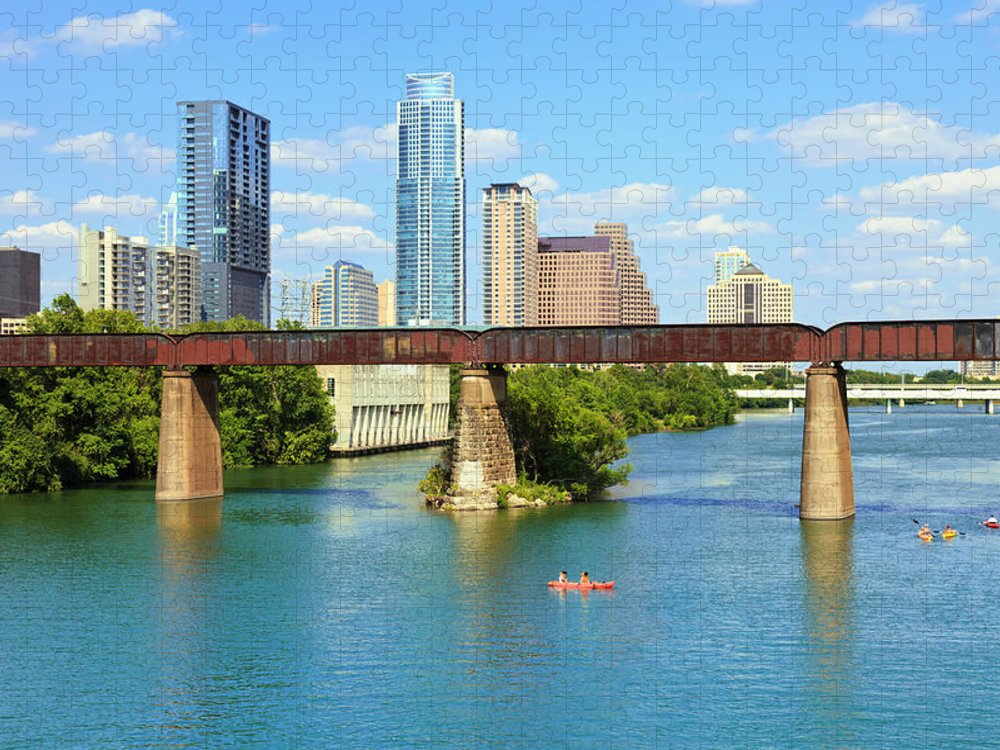 Scenics Puzzle featuring the photograph Austin Texas Skyline, Colorado River by Dszc