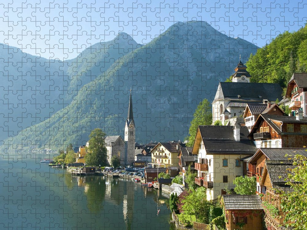 Scenics Puzzle featuring the photograph Austria, Salzburger Land, Hallstatt by Manchan