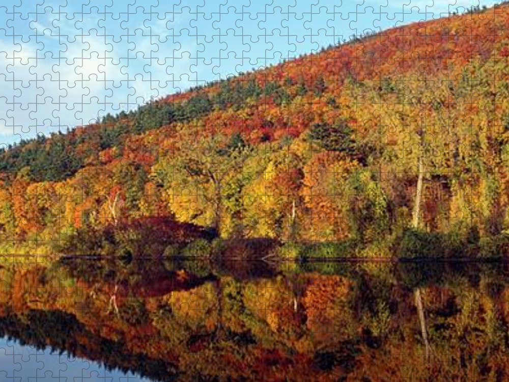 Tranquility Puzzle featuring the photograph Autumn Colors Along Connecticut River by Visionsofamerica/joe Sohm