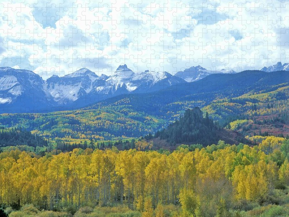 Scenics Puzzle featuring the photograph Autumn Colors In The Sneffels Mountain by Visionsofamerica/joe Sohm