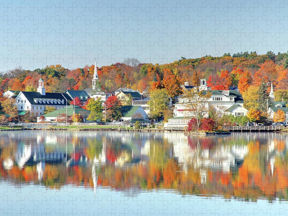 Scenics Puzzle featuring the photograph Autumn On Lake Winnipesaukee by Denistangneyjr
