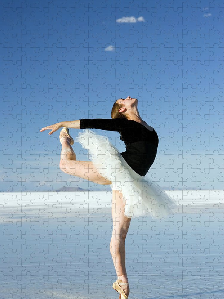 Ballet Dancer Puzzle featuring the photograph Ballerina Tip Toe Pose by Avid creative