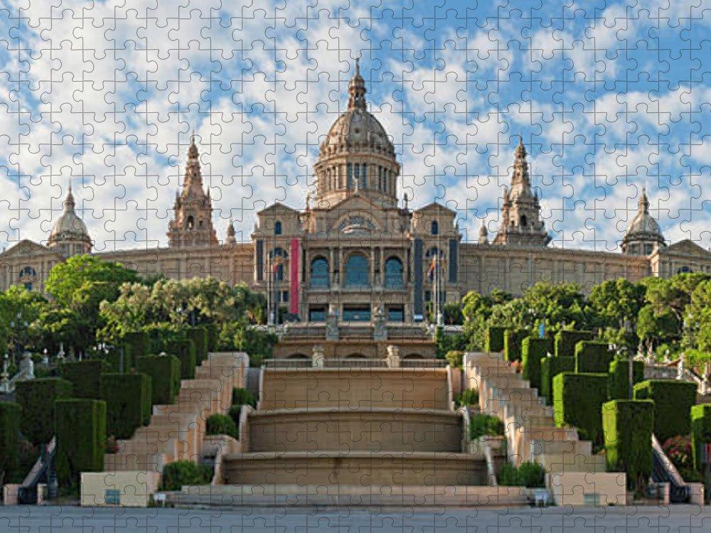 Catalonia Puzzle featuring the photograph Barcelona Museu Nacional Dart De by Fotovoyager