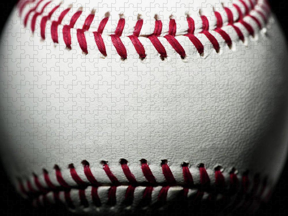 Ball Puzzle featuring the photograph Baseball by Pgiam