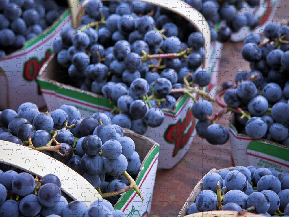 Toronto Puzzle featuring the photograph Baskets Of Grapes by Mary Smyth